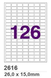 Etiqueta INK JET / LASER A4 - 2616