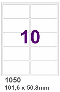 Etiqueta INK JET / LASER Carta - 1050